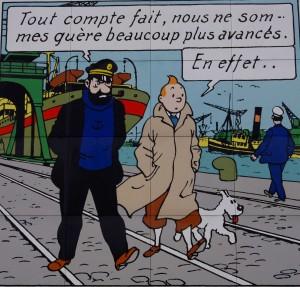 Tintin, Haddock et Milou à Saint-Nazaire (Hergé)