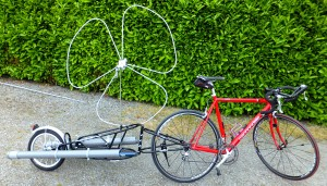 Vélo Cannondale 1992 et remorque BOB