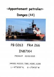 Fiche d'activation du phare de Donges