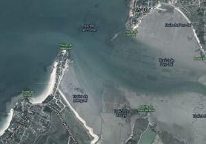 Vue aérienne de la pointe de Merquel