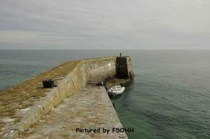 La cale d'accès à l'île du Pilier