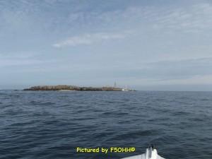 Vue de l'île Pilier, du large