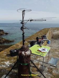 Installation de la station HF, VHF et UHF sur la jetée