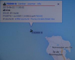 Capture d'écran APRS de Patrice F11579