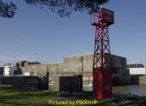 Ancienne entrée du bassin de Saint-Nazaire et écluse fortifiée