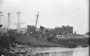 Cette même entrée de cale le 28 mars 1942 et 4 tonnes d'explosifs