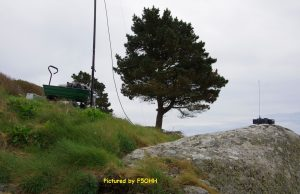 Sur le rocher, la station APRS