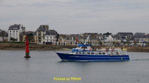 Le bateau d'excursion pour les Glénan