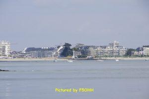 Baie du Pouliguen vue de la mer