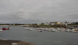 Vue sur le port et les maisons