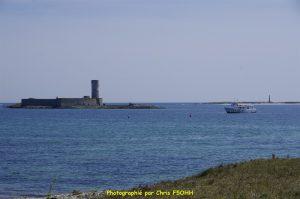 Dans le fond à droite l'île Le Loc'h
