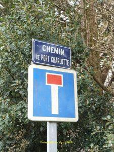 Entrée de l'impasse de Port Charlotte