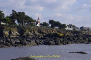 Le phare de Penlan vue de l'Estran