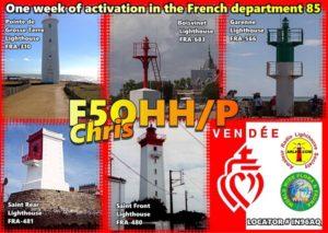 5 phares de St Gilles Croix de Vie