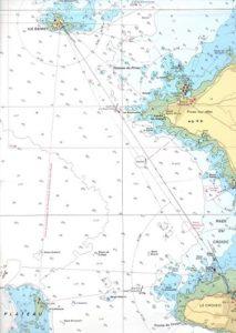 Carte marine des lieux concernés