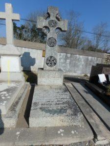 Tombe du poète, cimetière du Bourg
