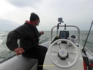 Fifi le pêcheur en action