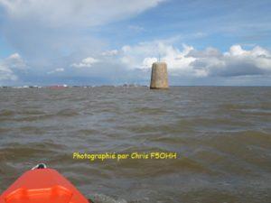 Marée haute sur la Tourelle de Sécé (44)
