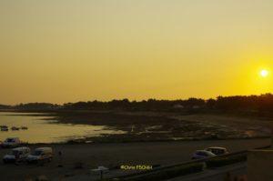 Coucher de soleil sur la pointe St Gildas