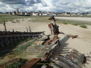 Phare de Portbail et vue du Havre éponyme