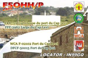 Carte d'activation du port Cap Lévy