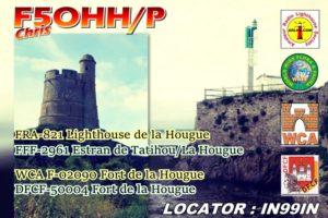 Carte de l'activation Fanal et Fort de la Hougue