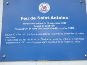 Plaque signalétique du Feu de Saint Antoine